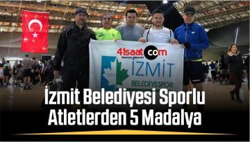 İzmit Belediyesi Sporlu Atletlerden 5 Madalya