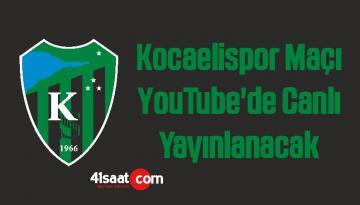 Kocaelispor Seyirsiz Maçı YouTube'de Canlı Yayınlanacak