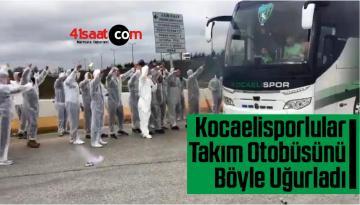 Stada Giremeyen Kocaelisporlular Takım Otobüsünü Böyle Uğurladı