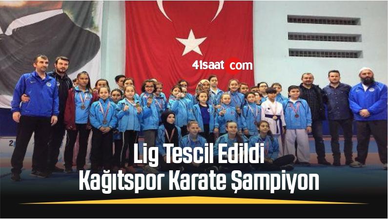 Lig Tescil Edildi, Kağıtspor Karate Şampiyon