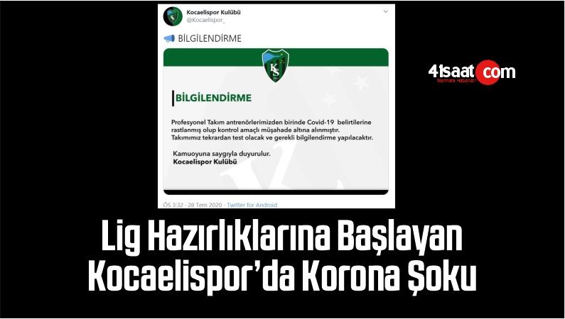 Lig Hazırlıklarına Başlayan Kocaelispor'da Korona Virüs Şoku