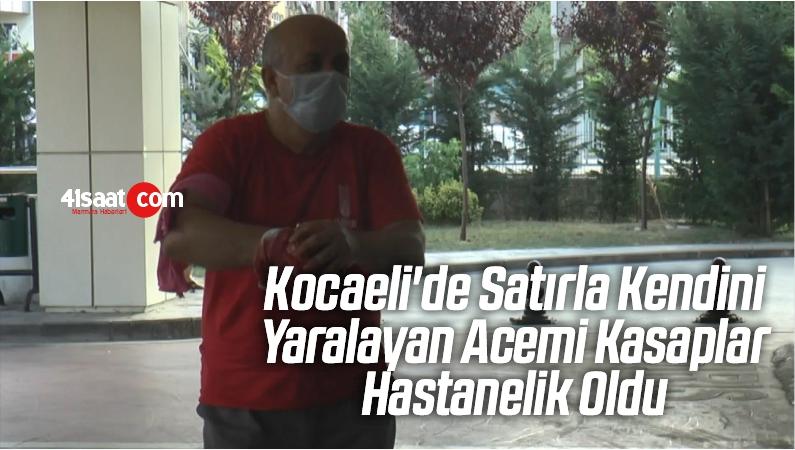 Kocaeli'de Satırla Kendini Yaralayan Acemi Kasaplar Hastanelik Oldu