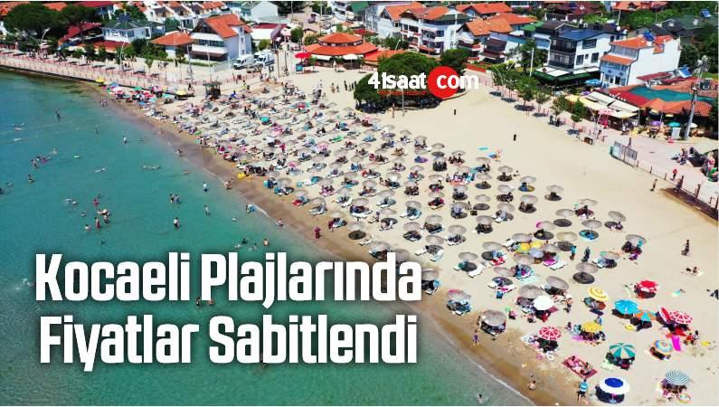 Kocaeli Plajlarında Fiyatlar Sabitlendi
