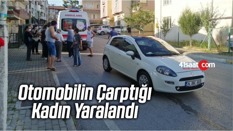 Kocaeli'nin Derince İlçesinde Otomobilin Çarptığı Kadın Yaralandı