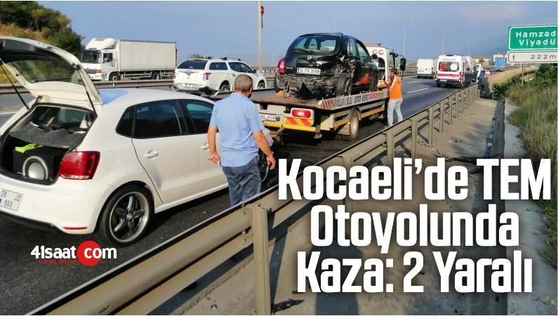 Kocaeli'de Körfez İlçesi TEM Otoyolunda Kaza: 2 Yaralı