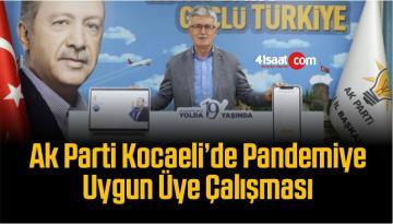 Ak Parti Kocaeli'de Pandemiye Uygun Üye Çalışması