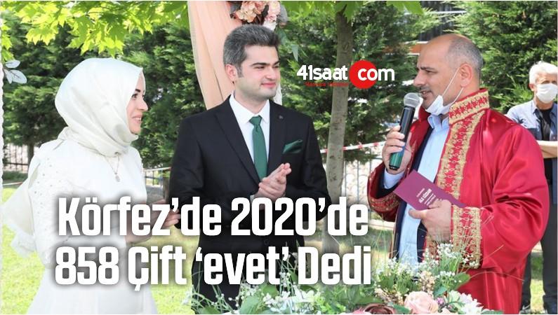 Körfez'de 2020'de 858 Çift 'Evet' Dedi