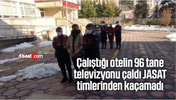Çalıştığı Otelin 96 Tane Televizyonu Çaldı, JASAT Timlerinden Kaçamadı