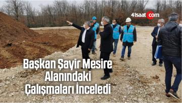 Başkan Şayir Mesire Alanındaki Çalışmaları İnceledi