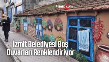 İzmit Belediyesi Boş Duvarları Renklendiriyor