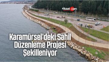Karamürsel'deki Sahil Düzenleme Projesi Şekilleniyor