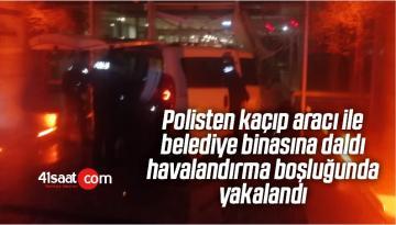 Polisten Kaçıp Belediye Binasına Daldı, Havalandırma Boşluğunda Yakalandı
