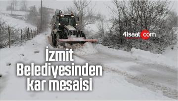 İzmit Belediyesinden Kar Mesaisi