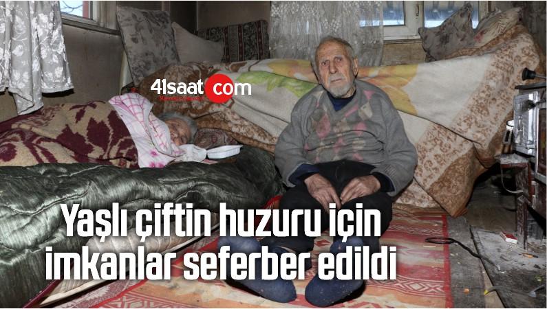 Yaşlı Çiftin Huzuru İçin İmkanlar Seferber Edildi
