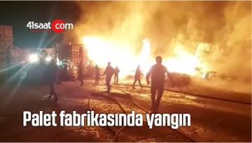 Palet Fabrikasında Yangın