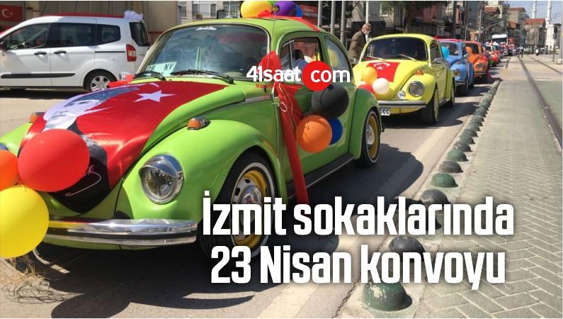İzmit Sokaklarında 23 Nisan Konvoyu
