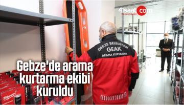 Gebze'de Arama Kurtarma Ekibi Kuruldu