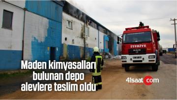 Maden Kimyasalları Bulunan Depo Alevlere Teslim Oldu