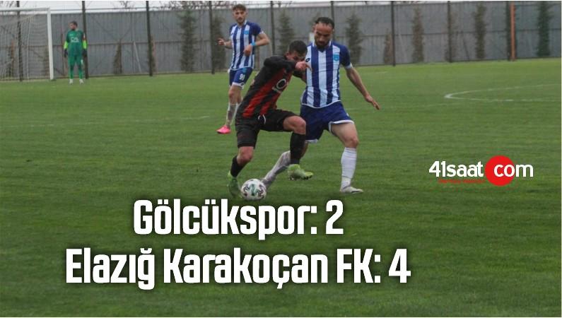 Gölcükspor: 2 – Elazığ Karakoçan FK: 4