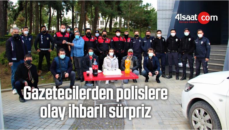 Gazetecilerden Polislere Olay İhbarlı Sürpriz