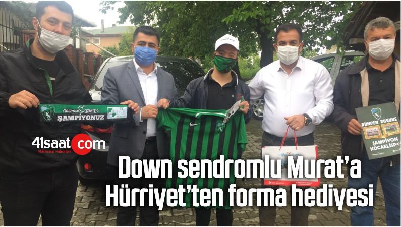 Down Sendromlu Murat'a Hürriyet'ten Forma Hediyesi