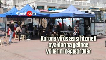 Korona Virüs Aşısı Hizmeti Ayaklarına Gelince Yollarını Değiştirdiler