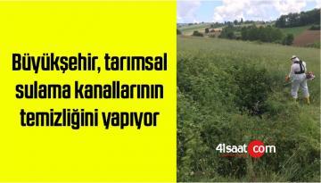 Büyükşehir, tarımsal sulama kanallarının temizliğini yapıyor