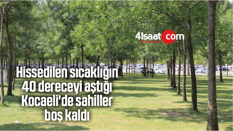Hissedilen Sıcaklığın 40 Dereceyi Aştığı Kocaeli'de Sahiller Boş Kaldı