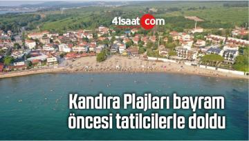 Kandıra Plajları Bayram Öncesi Tatilcilerle Doldu