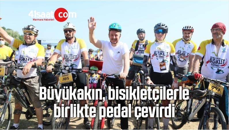 Büyükakın, Bisikletçilerle Birlikte Pedal Çevirdi