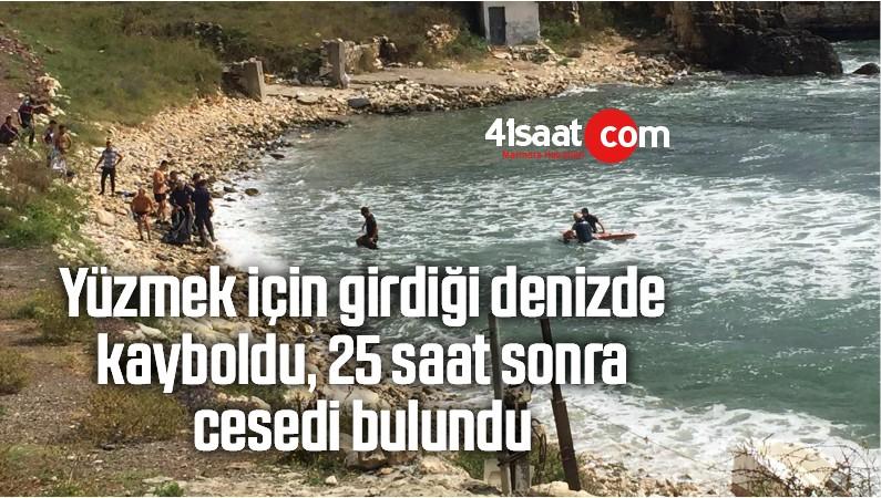 Yüzmek İçin Girdiği Denizde Kayboldu, 25 Saat Sonra Cesedi Bulundu