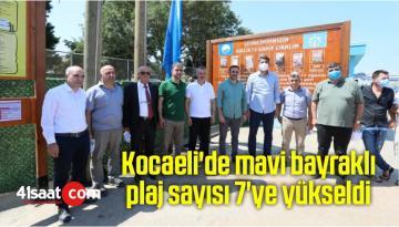 Kocaeli'de mavi bayraklı plaj sayısı 7'ye yükseldi