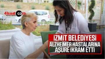 İzmit Belediyesi alzheimer hastalarına aşure ikram etti