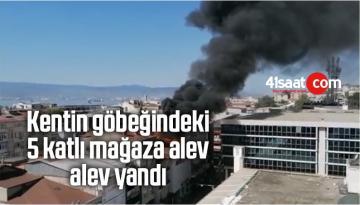 Kentin Göbeğindeki 5 Katlı Mağaza Alev Alev Yandı