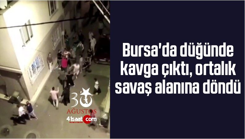 Bursa'da Düğünde Kavga Çıktı, Ortalık Savaş Alanına Döndü