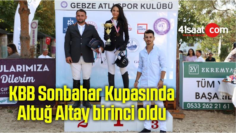 KBB Sonbahar Kupasında Altuğ Altay birinci oldu