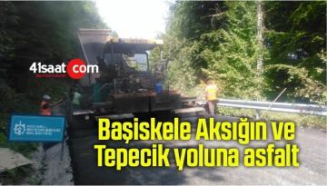 Başiskele Aksığın ve Tepecik yoluna asfalt