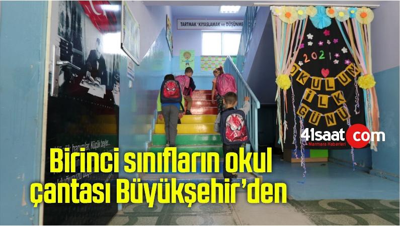 Kırsal alanlardaki bin öğrencinin yüzü güldü; Birinci sınıfların okul çantası Büyükşehir'den