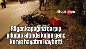 Rögar Kapağına Çarpıp Pikabın Altında Kalan Genç Kurye Hayatını Kaybetti