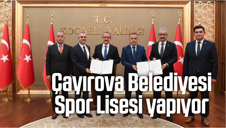 Çayırova Belediyesi Spor Lisesi Yapıyor