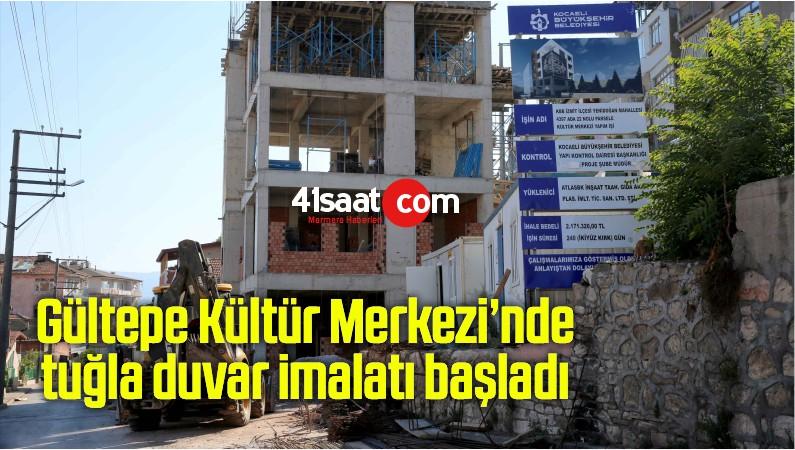 Gültepe Kültür Merkezi'nde tuğla duvar imalatı başladı